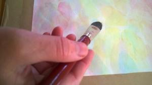 Färgglad bild med pensel